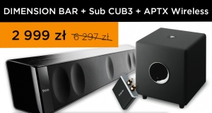 Focal Dimension Sound Bar + Sub Cub 3 + APTX Wireless